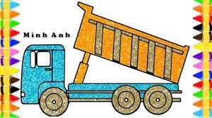 Dạy Bé Vẽ Và Tô Màu Ô Tô Tải | Drawing Dump Truck (Có hình ảnh ...