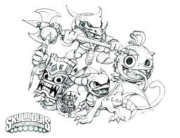 Skylanders Colouring Pages Color Pages Giants Colour Skylanders