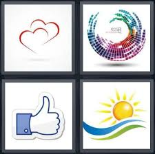 Microsoft Word Hearts 4 Pics 1 Word Answer For Hearts Colors Facebook Sun