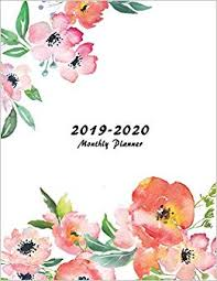 2019 2020 Monthly Planner Large Two Year Planner With Flower