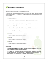 Proposal Pack Pest Control    Recommendations Page