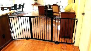 large baby gate pet black red on long dog gates indoor 2