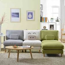 Modern Chic Living Room Soft Grey Carpet With Wooden Coffee Table And Colorful Small