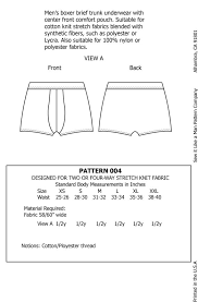 Boxer Pattern Beauteous Mens Boxer Brief Trunk Underwear Sewing Pattern Etsy