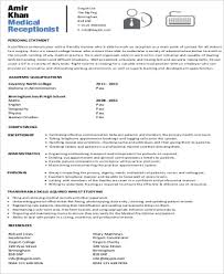 7 Receptionist Resume Objectives Sample Templates