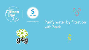 Solvay & g4g - Purify water by filtration with Zarah - YouTube
