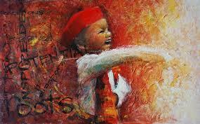 adebanji alade my art my passion for sketching igbo kwenu 24 x 15 mixed a on canvas board 2008