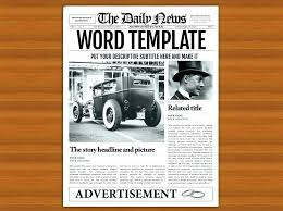 Newspaper Template Free Google Docs Free Newspaper Template Google Docs Beautiful Modern Slides