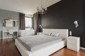 dark accent wall in master bedroom