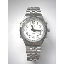 talking watches for the blind active products plus men s deluxe talking watch alarm silver tone for the blind