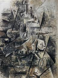 georges braque clarinet and bottle of rum on a mantelpiece 1911 tate