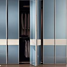 aries bi fold white and blue closet door