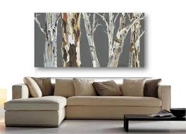 extra large wall art gray brown trees