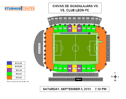 Stubhub Football Seating Chart Chivas De Guadalajara Vs Club Leon Fc Stubhub Center