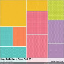 Basic Grids Colors Paper Pack No 01 Bright Color Palette In