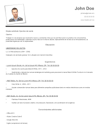 Ejemplo De Curriculum Vitae En Word Ejemplo De Cv En Word Rome Fontanacountryinn Com