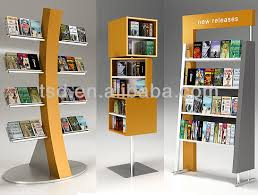 Wooden Book Stand For Display Awesome Tsdw32 Custom High Quality Shop Display Book RacksWooden Book