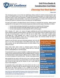 How To Price A Construction Job Center For Job Order Contracting Official Site