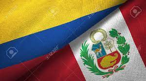 Colombia And Peru Flags Together Textile Cloth, Fabric Texture Stock Photo,  Picture And Royalty Free Image. Image 120832903.