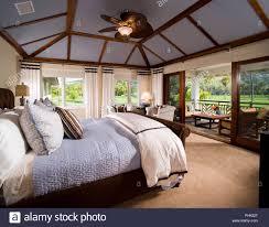 Schlafzimmer Mit Deckenventilator Stockfoto Bild 217392287 Alamy