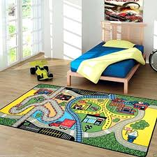 childrens rug road play mat kids city play mat fun town cars play village road rug