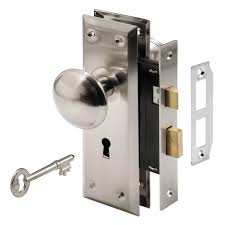 Prime Line Mortise Lock Set With Keyed Nickel Plated Knobs E 2330 Keyed Locks For Interior Doors