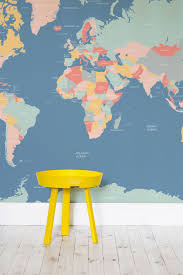 brilliant joyful children bedroom furniture. Brilliant And Bright Pastel Colours Make This A Totally Unique Map Wallpaper Design. Perfect For Kids\u0027 Bedrooms Or Quirky Colourful Bedroom. Joyful Children Bedroom Furniture