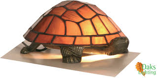 tortoise lighting. Oaks Lighting \u0027Tortoise\u0027 Tiffany Novelty Table Lamp, Purple - OT 950 PU None Tortoise