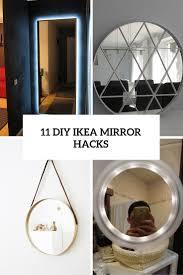 11 Beautiful DIY IKEA Mirrors Hacks To Try - Shelterness
