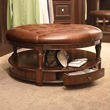 oval leather ottoman coffee table leather ottoman coffee table with design oval brown modern solid wood