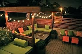outdoor string lighting ideas amazing patio lights modern backyard throughout deck balcony decorative
