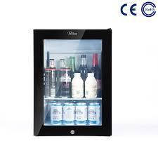glass door hotel mini bar fridge
