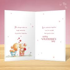 V14101 Girlfriend Valentines Card Inside Garlanna Greeting Cards