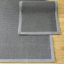 gray sisal with gray border rug