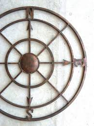 42 compass free shipping nautical decor metal by honeywoodhome on rustic outdoor metal wall art with 42 compass free shipping nautical decor metal by honeywoodhome