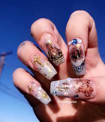Angel Love Nail Designs Angels Cherubs Saints Nail Inspo Nails Halloween Nails