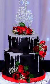 21st Birthday Cake With Fresh Flowers 2kg Sri Lanka Online