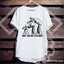 Make Love Not Star Wars Tshirt Tshirt Adult Unisex Size S 3xl