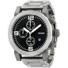 mens nixon watches nixon a347000 ride ss chronograph black dial stainless steel bracelet men watch
