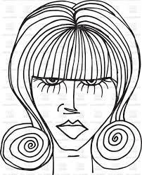 Woman Face Vector Background Lamaison