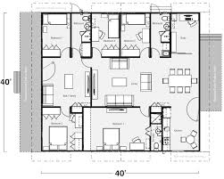 Generally, with a container home, one might not imagine having such a large  open space, but this plan has it.