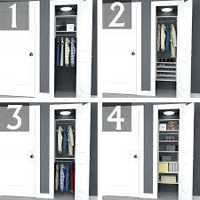 small closet design ideas 2 foot space