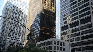 urban office architecture. Glass Skyscrapers From Large Corporations In Manhattan, New York - HD Stock Video Clip Urban Office Architecture