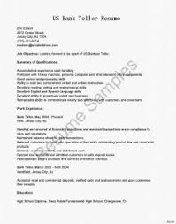 Cover Letter Teller Resume Sample Amazing Bank Teller Job
