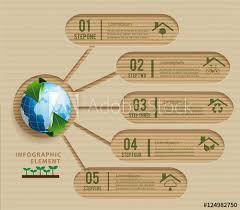 Chart Paper Presentation Paper Craft Ecology Concept Green Design Environmental And