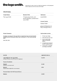 How To Write A Graphic Design Proposal Logo Design Proposal Invoice Template To Download