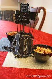 40th Birthday Decorations For Her A Christian Themed Manly Surprise 40th Birthday Party With Free