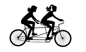 girls on a tandem bike vector illustrations creative market