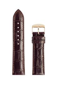 mens leather brown crocodile pattern signature strap official uk mens leather brown crocodile pattern signature strap