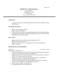 Sample Resume For Ojt In Tourism Augustais